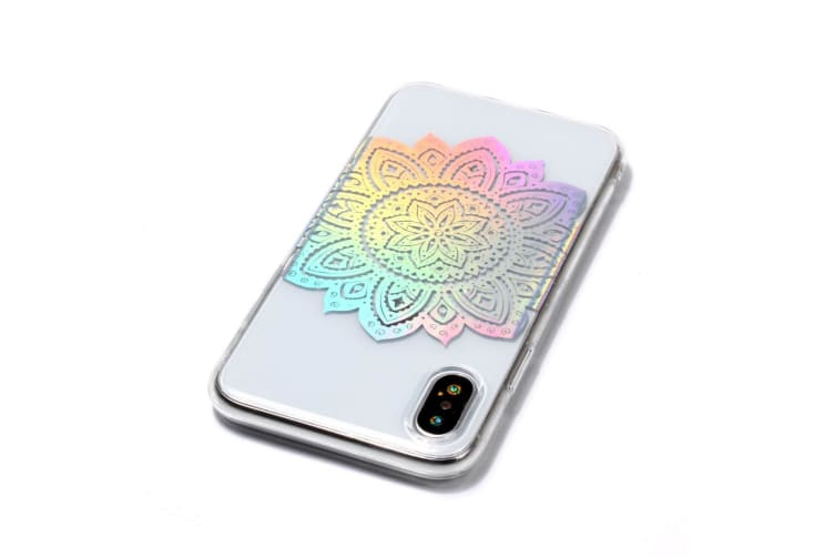 For iPhone XS Max Case M&ala Pattern Transparent Clear TPU Cover