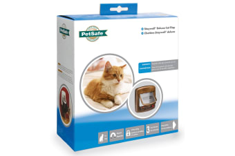 Petsafe Staywell Deluxe Magnetic Cat Flap (Woodgrain) (One Size)