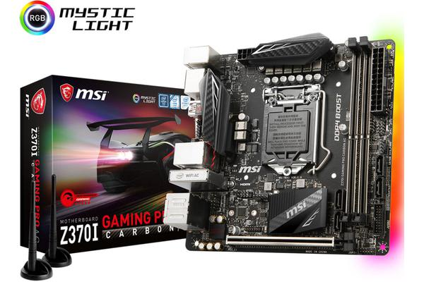 MSI Z370I GAMING PRO CARBON AC mini-ITX Motherboard - S1151 8Gen 2xDDR4 PCI-E M.2 TypeC DP/HDMI