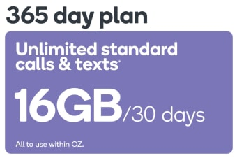 Kogan Mobile Prepaid Voucher Code: LARGE (365 Days | 16GB Per 30 Days) - No SIM