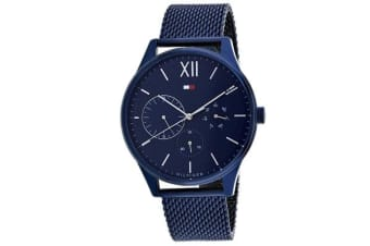 Tommy Hilfiger Men's Damon Watch (Blue Dial, Mesh Bracelet)