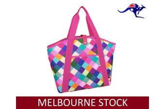 SACHI INSULATED COOLER BAG Tote Storage Carry Foldable Leak Proof HARLEQUIN