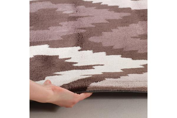 Ikat Diamonds Brown Beige Rug 200x200cm