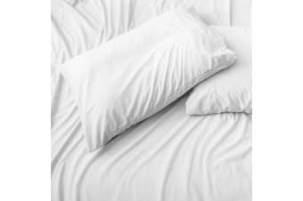 Belledorm Jersey Cotton Housewife Pillowcases (Pair) (White)