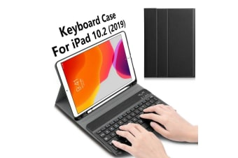For iPad 7th Gen 10.2 2019 Bluetooth Keyboard Leather Case Cover w/Pencil Holder