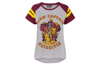 Harry Potter Womens/Ladies Quidditch Team Captain T-Shirt (Multicoloured)