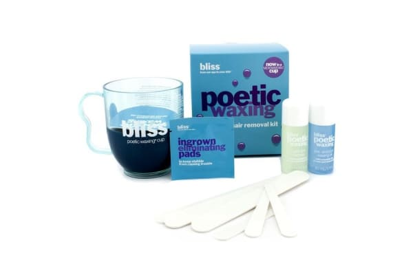 Bliss Poetic Waxing Kit - Azulene: Wax + Cleanser + Pre & Post Waxing Oil + Large & Small Sputulas (1set)