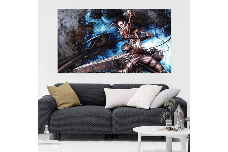 3D Attack On Titan 433 Anime Wall Stickers Self-adhesive Vinyl, 180cm x 100cm(70.8'' x 39.3'') (WxH)