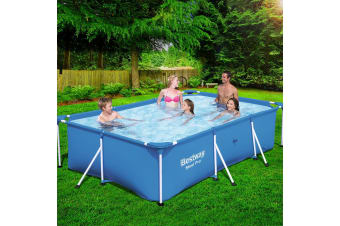 Bestway Swimming Pool Steel Frame Above Ground Rectangularl 3,300L