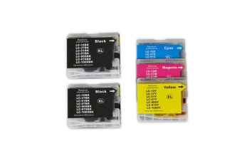 LC37 LC57 Compatible Inkjet Cartridge Set - 5 Ink Cartridges