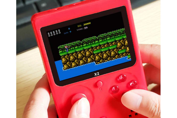 Select Mall Handheld Games Console for Kids Adults 2.8 Inch Screen 2500 Classic Games Game Player with AV Cable Can Play-Red