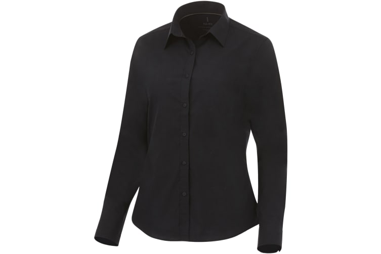 Elevate Womens/Ladies Hamell Long Sleeve Shirt (Solid Black) (XS)