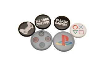 Playstation Button Badge Set (Multi-colour) (One Size)