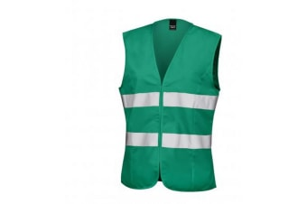 Result Core Womens/Ladies Sleeveless Hi Vis Vest (Paramedic Green) (XXS/6)