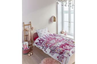 100% Cotton Fairy Palace Quilt Cover Set Single by Kids Bedding House