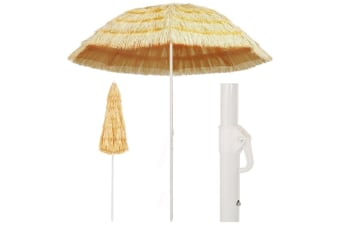 vidaXL Beach Umbrella Natural 240 cm Hawaii Style