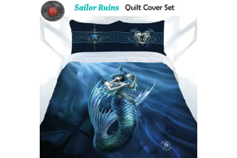 Anne Stokes Sailor Ruins Quilt Cover Set Double