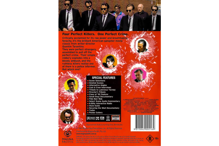 Reservoir Dogs Collectors Edition - Region 4 Rare- Aus Stock Preowned DVD: DISC LIKE NEW