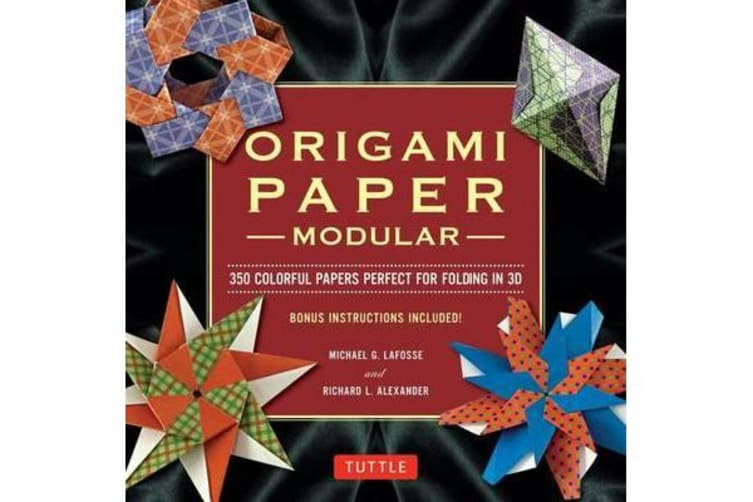 Modular Origami Paper Pack - 350 Colorful Papers Perfect for Folding in 3D