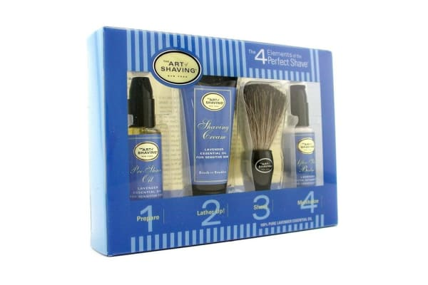 The Art Of Shaving Starter Kit - Lavender: Pre Shave Oil + Shaving Cream + Brush + After Shave Balm (4pcs)