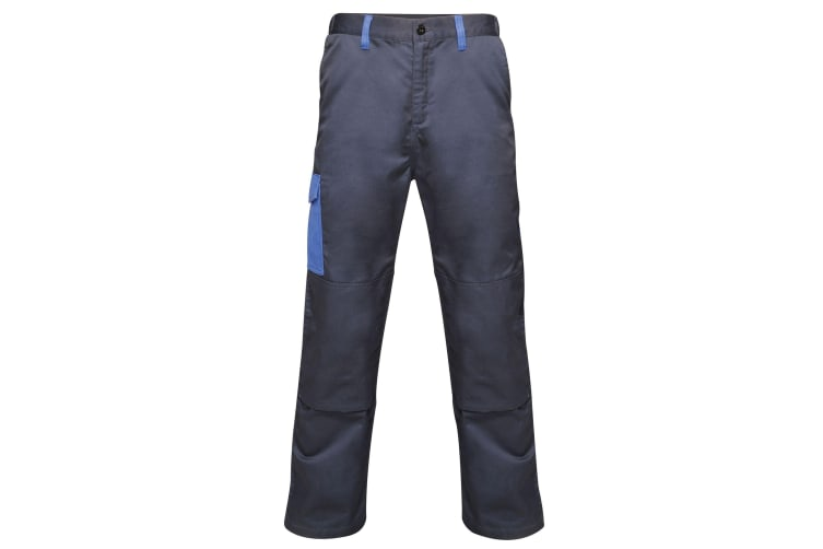 Regatta Mens Contrast Cargo Work Trousers (Navy/ New Royal Blue) (36R)