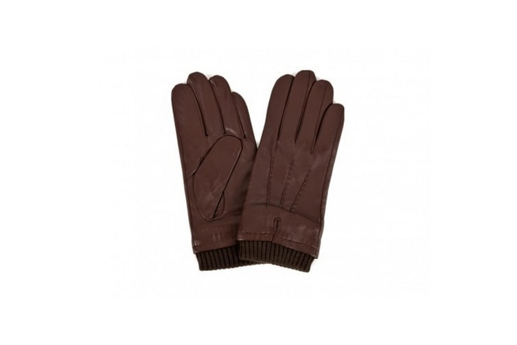 Eastern Counties Leather Mens Rib Cuff Gloves (Brown) (XL)