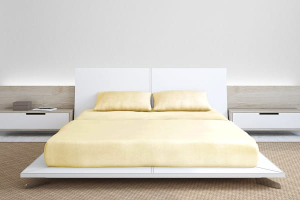 Royal Comfort 1000TC Bamboo Blend Bed Sheet Set (King, Ivory)
