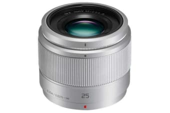 New Panasonic Lumix G 25mm F1.7 ASPH Lens Silver (FREE DELIVERY + 1 YEAR AU WARRANTY)