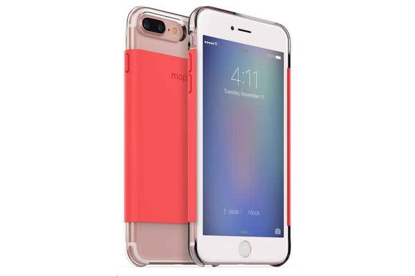 Mophie iPhone 7 Plus Hold Force Base Case - Clear Coral