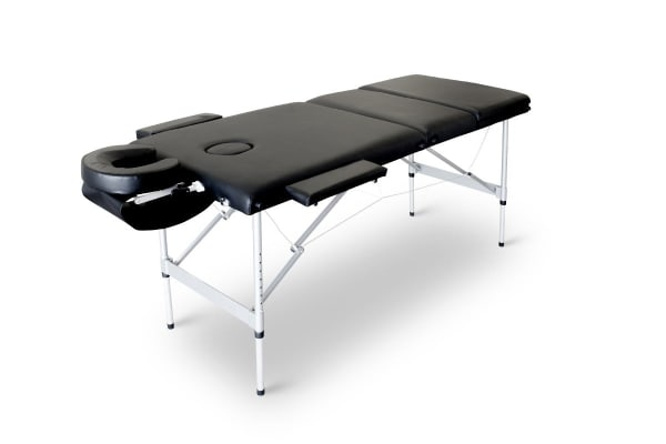 Portable Aluminium Massage Table (Black)