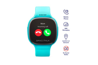 SPACETALK Kids Smartwatch with Phone and GPS (Teal)