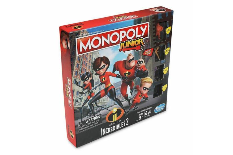 Monopoly Junior 5y+ The Incredibles 2 Kids/Children Property Trading Board Game