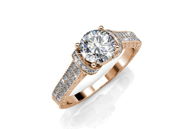 One Desire Ring Embellished with Swarovski crystals Size US 7