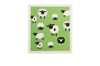 Retro Kitchen Swedish Dish Cloth Sheep