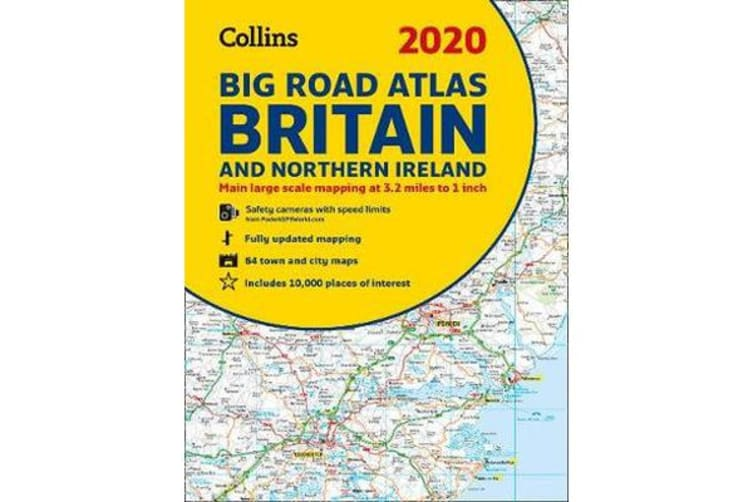 Map Of Ireland And Britain.2020 Collins Big Road Atlas Britain And Northern Ireland