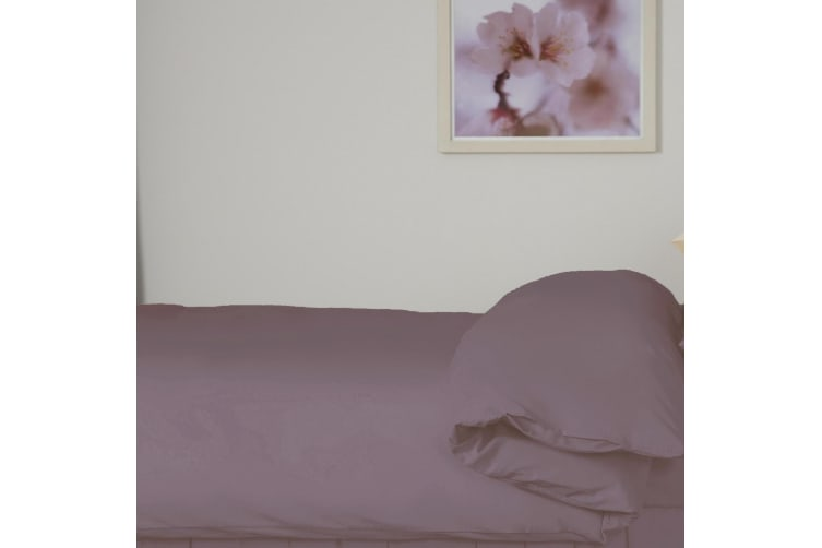 Belledorm 200 Thread Count Egyptian Blend Duvet Cover (Mulberry) (Double)