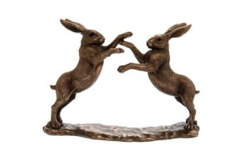 Reflections Bronzed Twin Hares Ornament (Bronze) (One Size)