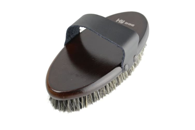 HySHINE Deluxe Body Brush with Horse Hair Mixed with Pig Bristles (May Vary) (19cm)