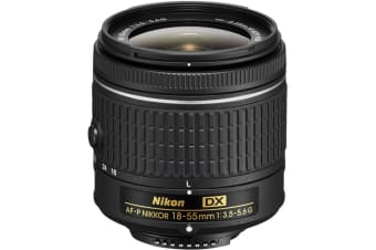 Nikon AF-P DX Nikkor 18-55 mm f/3.5-5.6G Lens for Camera (NO VR)