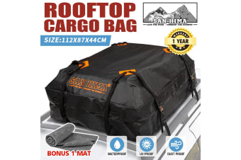 SAN HIMA Waterproof Car Roof Top Rack Carrier Cargo Bag Luggage Storage Cube Bag Travel 4WD