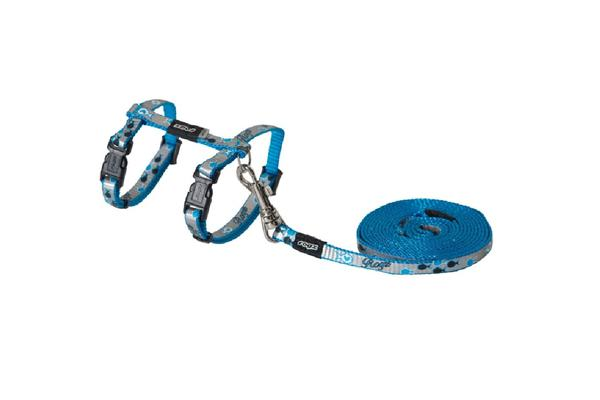 Rogz Reflectocat Harness Lead Blue - S