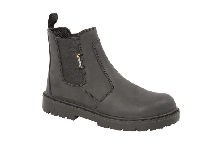 Grafters Mens Brown Waxy Leather Safety Dealer Boots (Black) (12 UK)