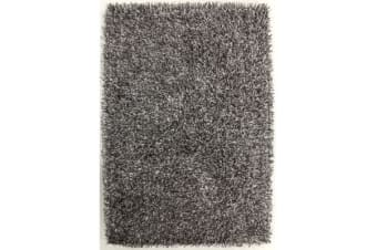 Metallic Noodle Shag Rug Grey White