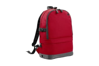 BagBase Backpack / Rucksack Bag (18 Litres Laptop Up To 15.6 Inch) (Classic Red) (One Size)
