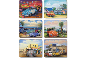 Cinnamon VW Bugs Placemats Set of 6