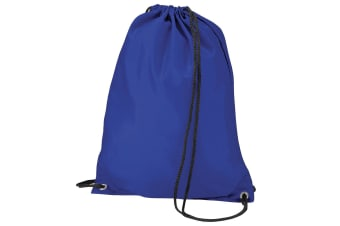 BagBase Budget Water Resistant Sports Gymsac Drawstring Bag (11L) (Royal)