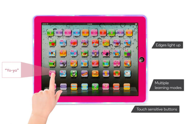 Kids' Interactive Learning Pad (Pink)