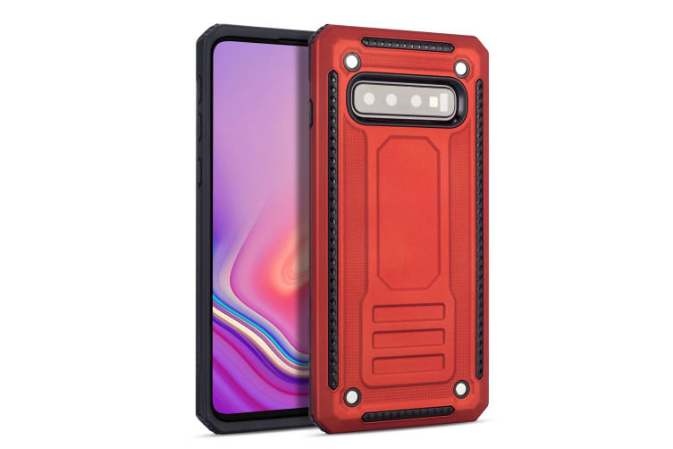For Samsung Galaxy S10+ Plus Case  Armour Strong Shockproof Tough Cover  Red
