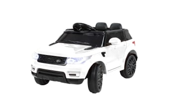 Range Rover Inspired 12v Ride-On Kids Car Remote Control - White