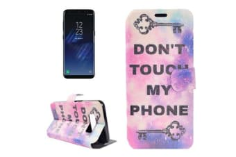 For Samsung Galaxy S8 Wallet Case DON'T TOUCH MY PHONE Leather Protective Cover